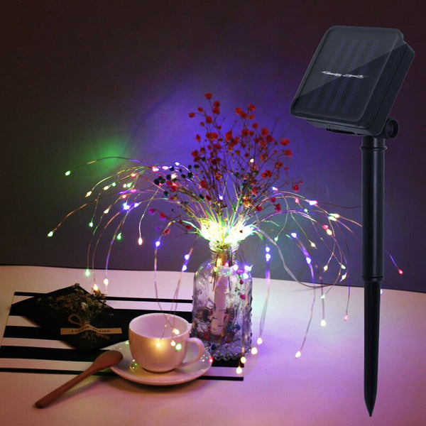 Solar Powered Two styles Hanging Starburst String Light