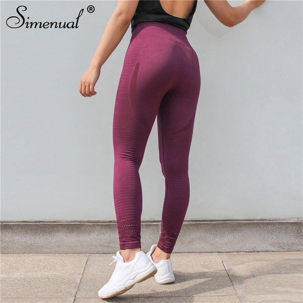 Simenual High waist push up leggings fitness women clothing sportswear holes jeggings athleisure bodybuilding legging pants sexy