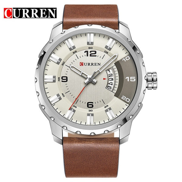 Fashion Creative Men Casual Leather Quartz Watches