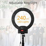 RL-560D Camera Photo Studio Phone Video 36W 240pcs LED Ring Light 5500K Photography Dimmable Ring Lamp High Quality Ring Lamp