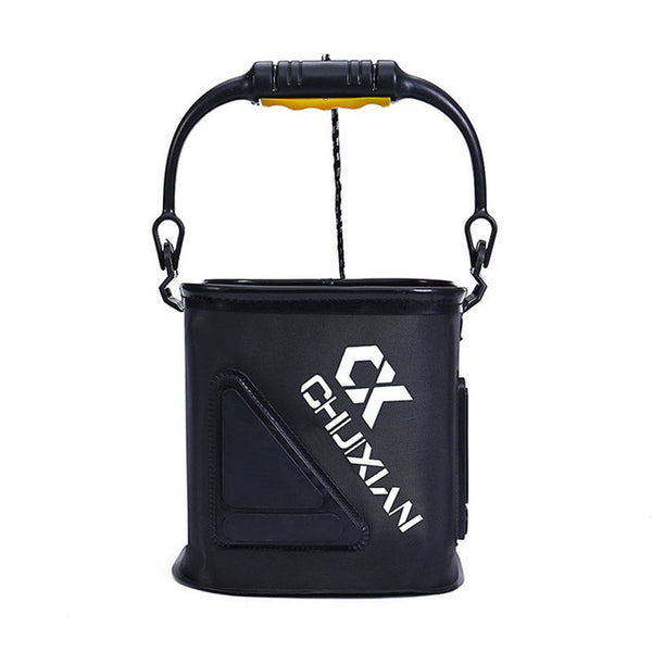 EVA Portable Folding Bucket Fishing Bucket Fishing Tackle Tool 2 colors Outdoor Bucket Folding Bucket With Rope Fishing Bags