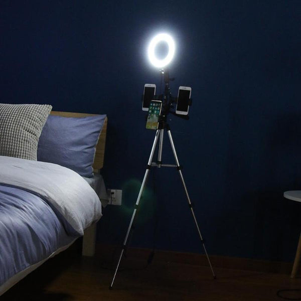 Photography Dimmable LED Video Live Studio Camera Ring Light Photo Phone Video Light with Tripod Selfie Stick High Quality