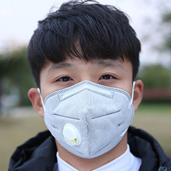 Face Mask anti-fog haze PM2.5 Solid folding grey activated carbon health and beauty personal care products