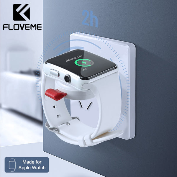 FLOVEME Smart Watch Wireless Charger For Apple Watch 4 USB Fast Charging Charger Series 4 3 2 1 Magnetic Watch Wireless Charger