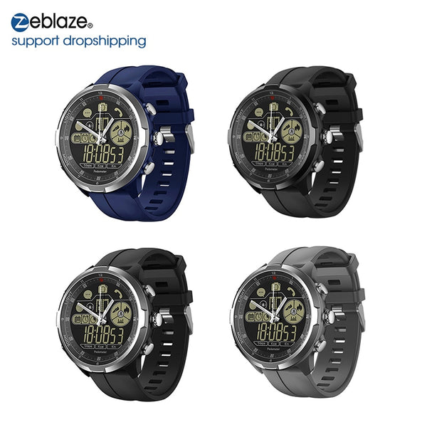 Hybrid Flagship Rugged Smartwatch 50M Waterproof 33-month Standby Time 24h All-Weather Monitoring Smart Watch