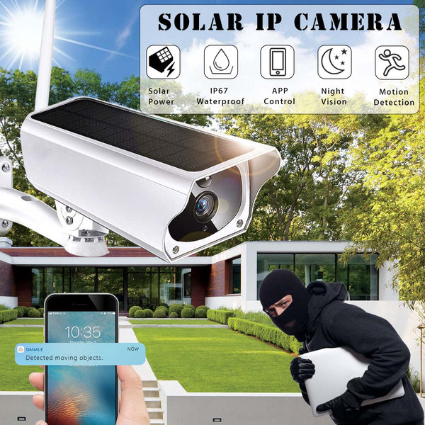 1080P Solar Camera Wireless Outdoor IP67 Waterproof Night Vision App Remote Monitoring Wifi Security IP Surveillance Camera