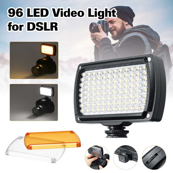 NEW 96 Mini LED Video Light Photo Lighting on Camera Dimmable LED Lamp for Canon for Nikon for Sony Camcorder DV DSLR Youtube