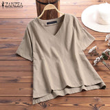 Cotton Casual T-Shirt Camisetas Solid Tops Womens Clothing