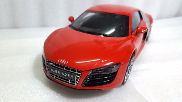 1:18 Diecast Model for Audi R8 5.2 FSI Red Sport Car Rare Alloy Toy Car Miniature Collection Gifts