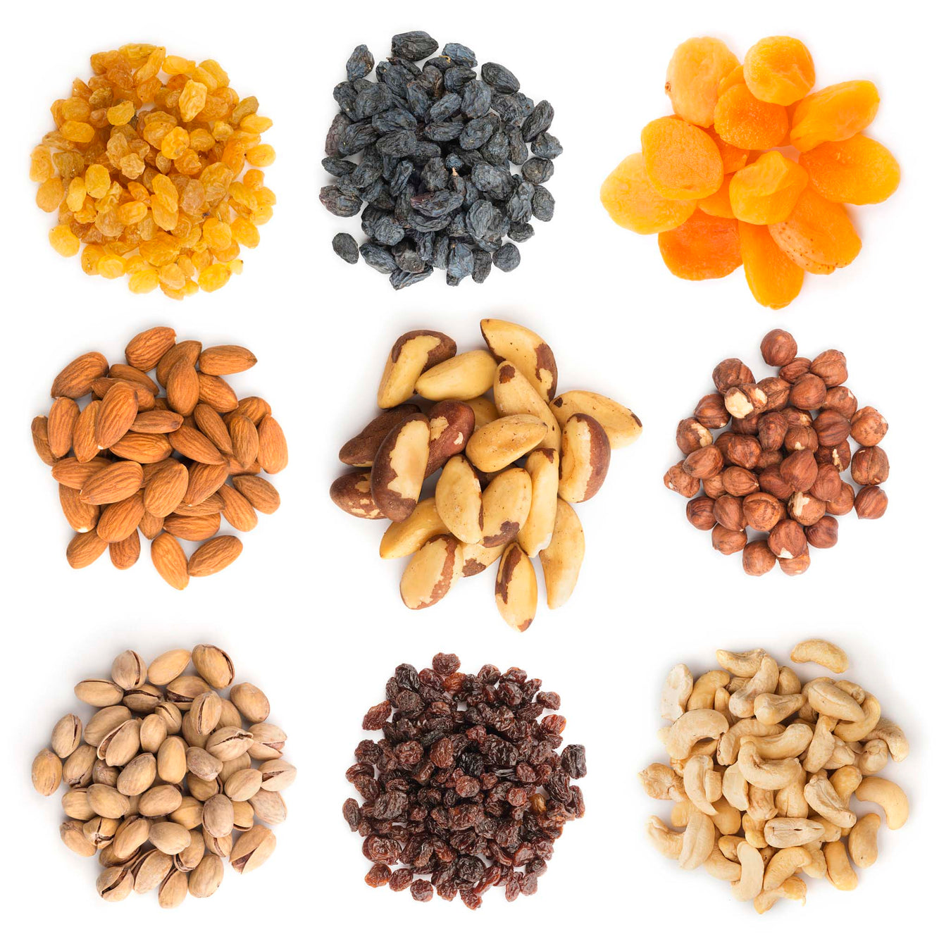 Nuts, Dried Fruit, Trailmixes
