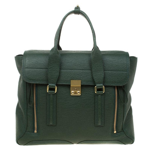 Phillip Lim Green Leather Pashli Bag?id=14572926697520