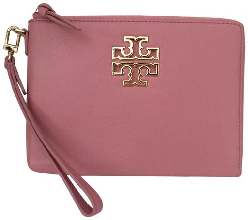 Tory Burch Britten Blush Pink Zip Around Coin Purse Wristlet with Gold Hardware?id=15676845195312