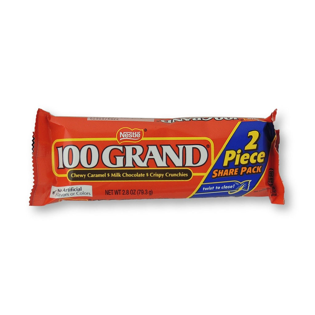 100 Grand King Size 2 Piece Caramel Chocolate 2.8 Oz
