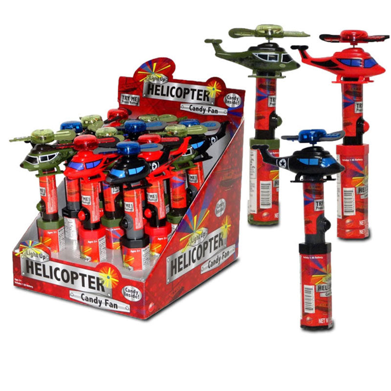 Light- Up Helicopter Candy Fan 3 Assorted