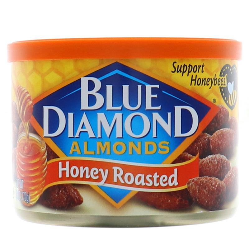 Blue Diamond Almonds Honey Roasted Can 6oz