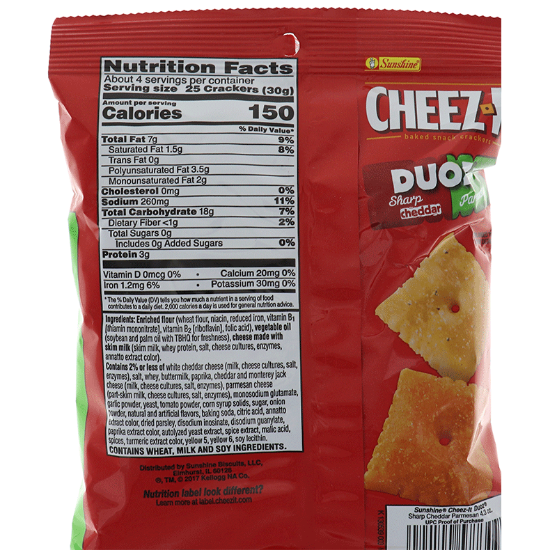 Cheez-It Duoz 2 Flavor 1 Bag - Sharp Cheddar & Parmesan Cookie