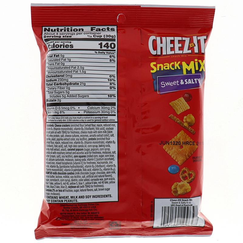 Cheez-It Snack Mix Sweet& Salty M&M 4oz