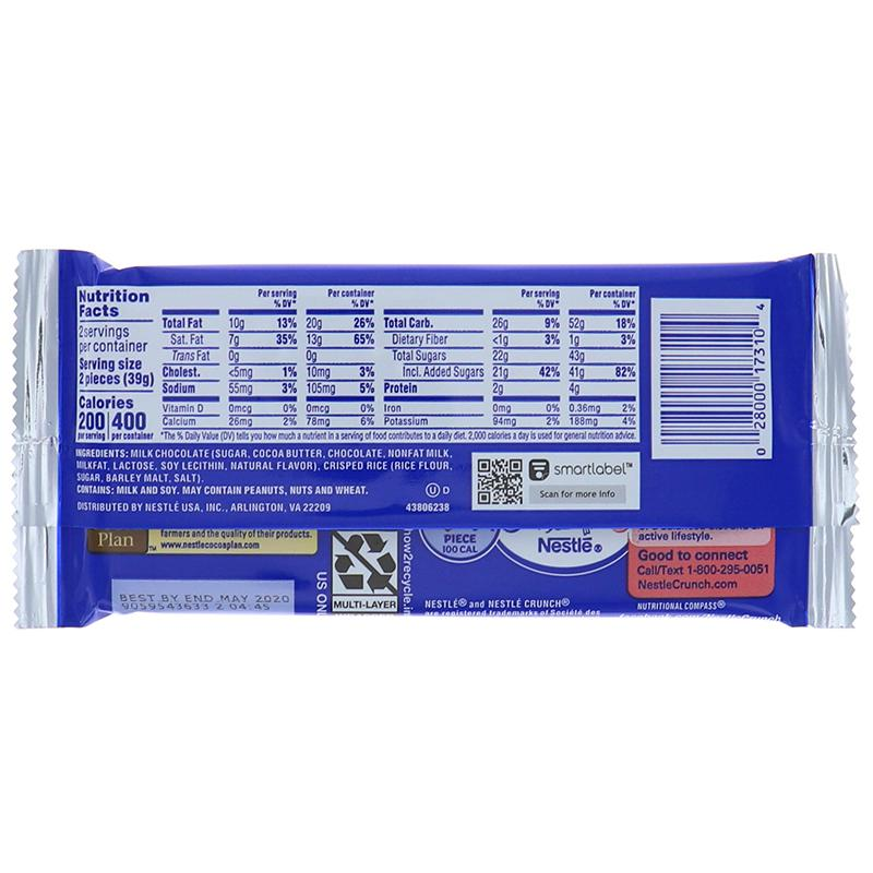 Nestle Crunch King Size Chocolate Wafer 2.75 Oz