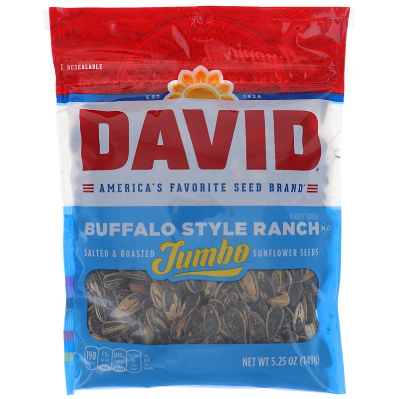 David Sunflower Seeds Jumbo Buffalo Style Ranch 5.25 Oz