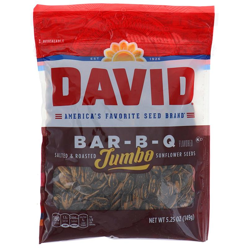 David Sunflower Seeds Jumbo B-B-Q 5.25 Oz