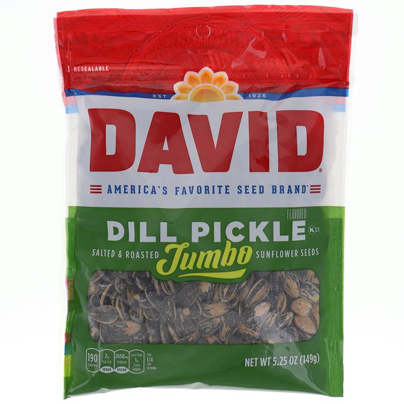 David Sunflower Seeds Jumbo Dill Pickle 5.25 Oz