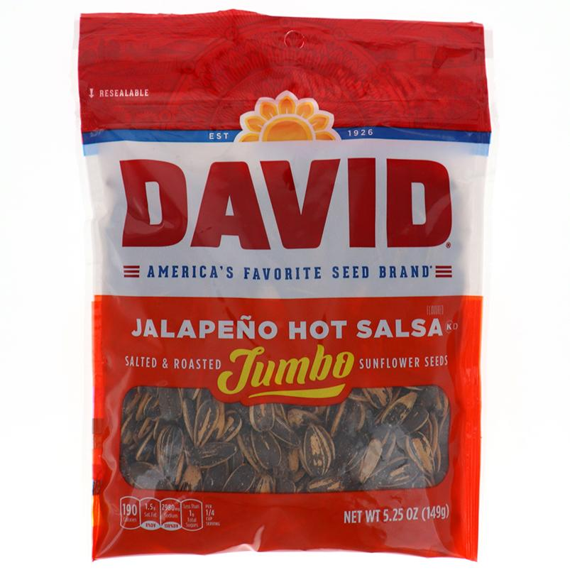 David Sunflower Seeds Jumbo Jalapeno Hot Salsa 5.25 Oz