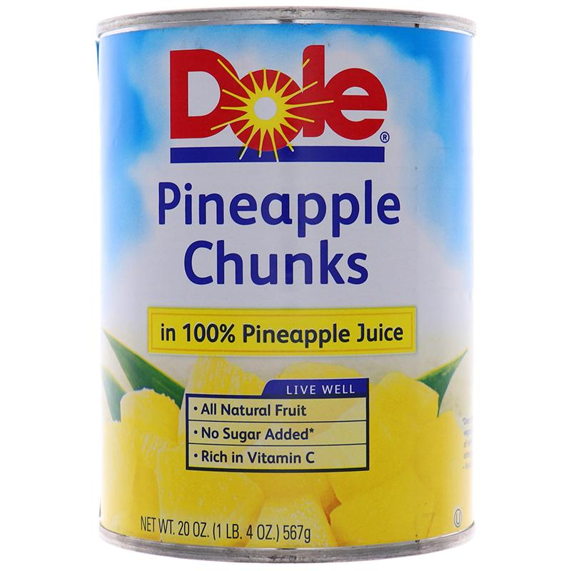 Dole Pineapple Chunks 20oz