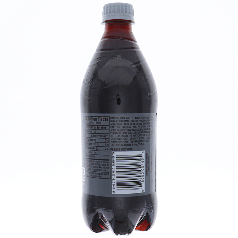 Dr Pepper Ten 20 Oz
