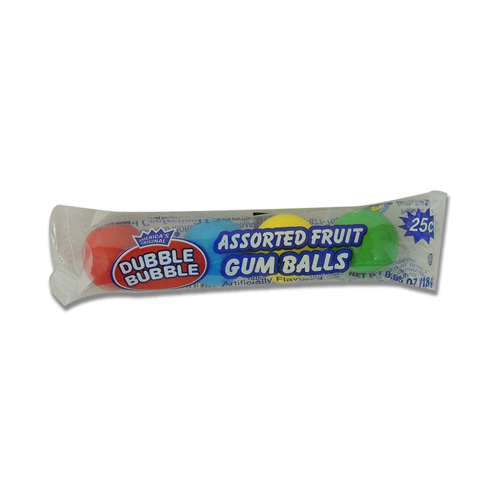 Dubble Bubble Gum Balls Assorted 4 Ct
