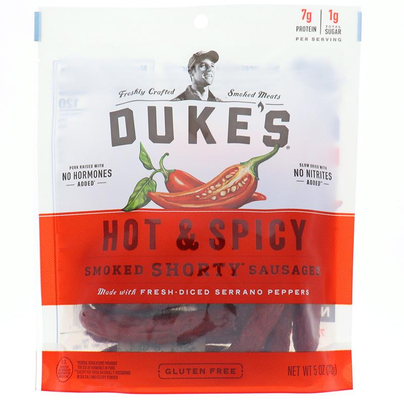 Dukes Shorty Smoked Sausage Hot&Spicy 5oz