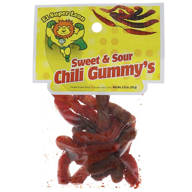 El Super Leon Peg Chili Gummy 2.5 Oz