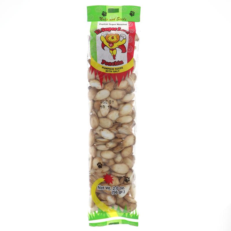 El Super Leon Pepitas Super Roasted - Tube 2 Oz