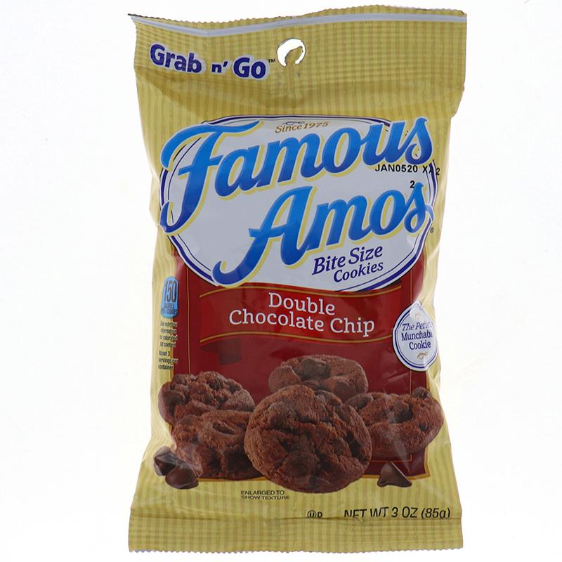 Famous Amos Grab N Go Double Chocolate Chip 3oz