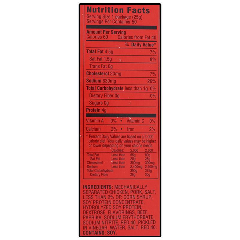 Fire Cracker Red Hot Pickled Sausage 0.88 Oz