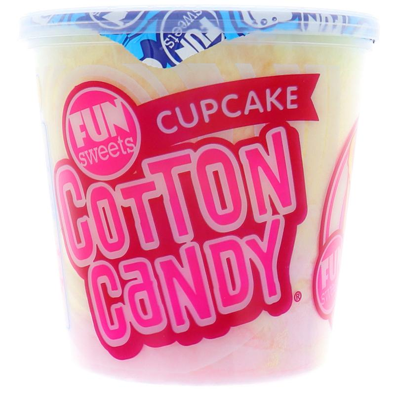 Fun Sweets Cotton Candy Cupcake - Cup 1.5oz