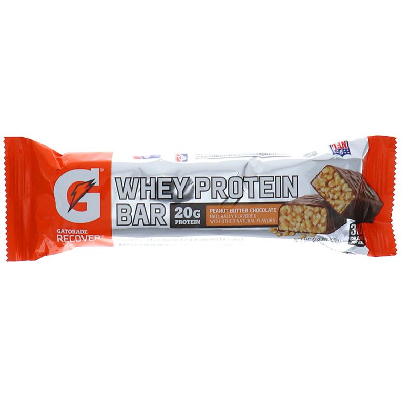 Gatorade Recover Whey Protien Bar Peanut Butter Chocolate