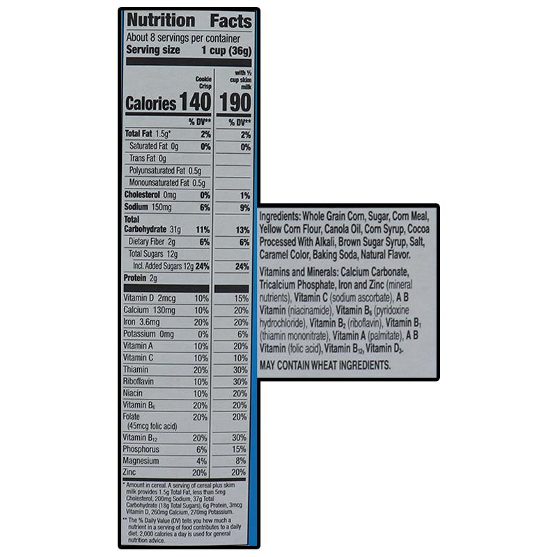 General Mills Cereal Cookie Crisp - Box 11.25oz