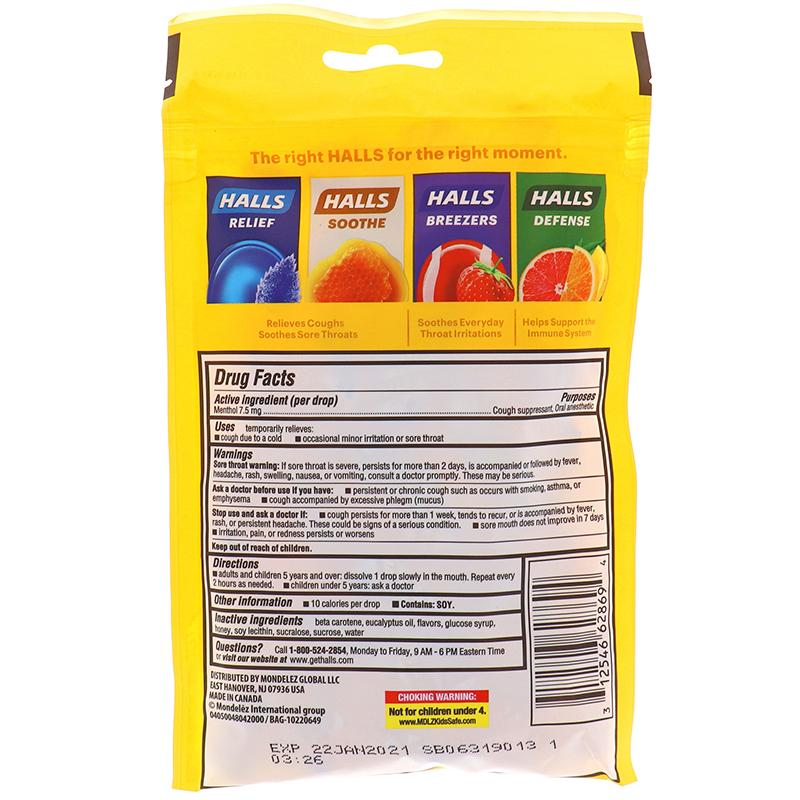 Halls Honey Lemon - Bag 30drops