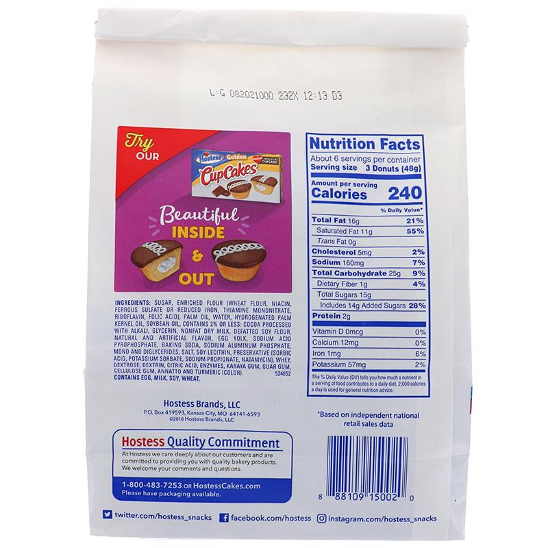 Hostess Donettes Mini Chocolate Donut Bag 11.25oz