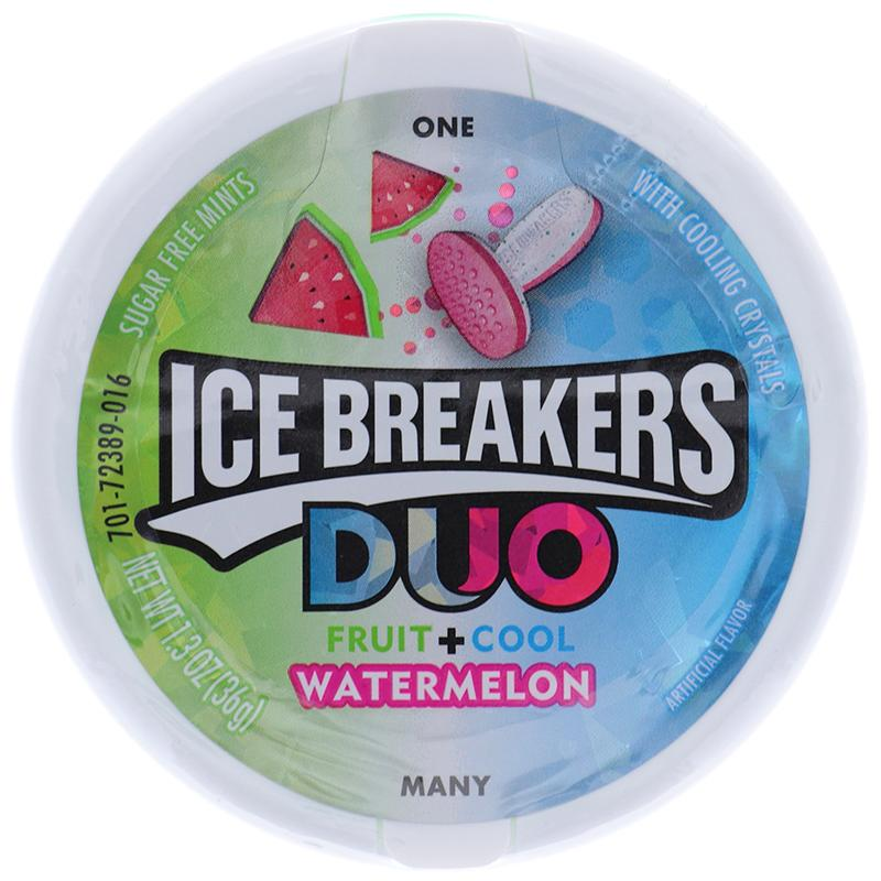 Ice Breakers Duo Mints Watermelon - Can 1.3oz