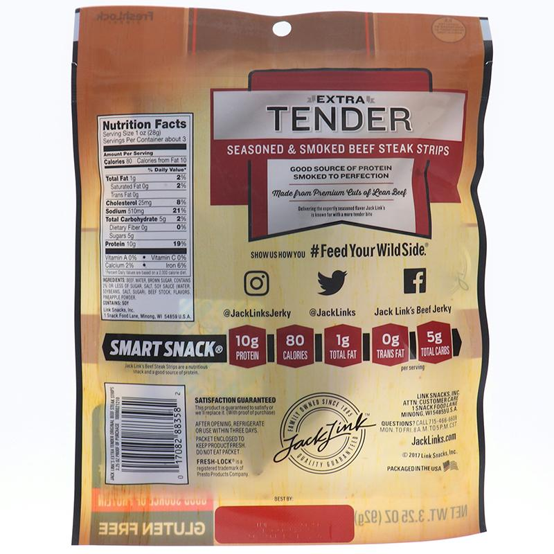 Jack Link Xtra Tender Steak Strip Original 3.25oz