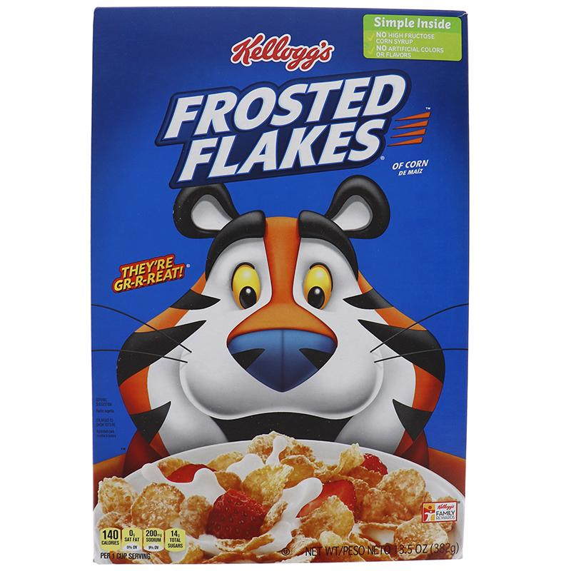 Kelloggs Cereal Frosted Flakes Box 10.5oz
