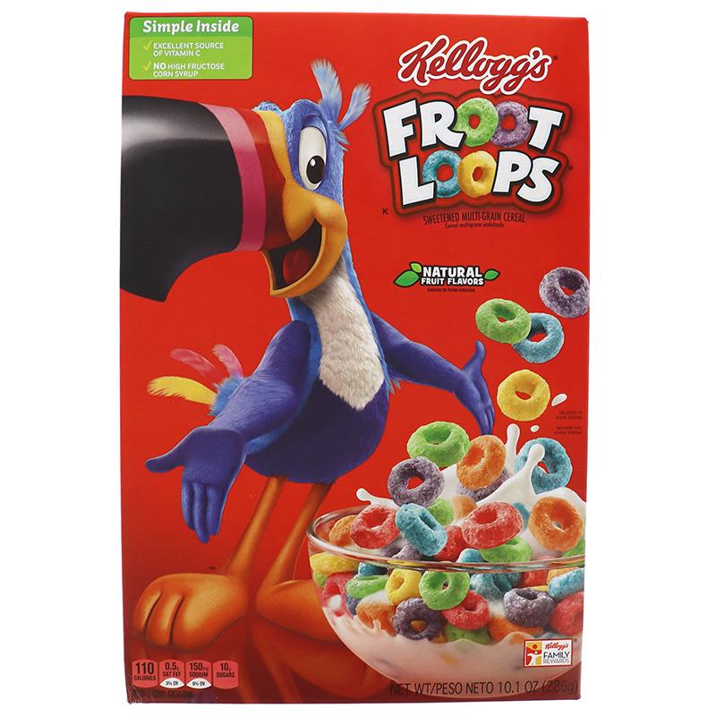 Kelloggs Cereal Froot Loops Box 8.7oz