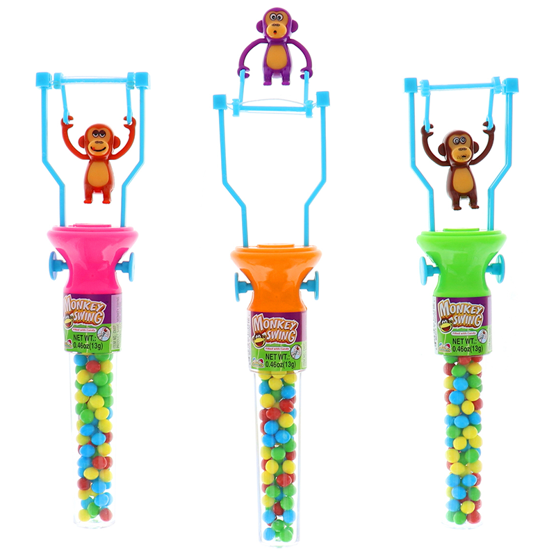 Kidsmania Monkey Swing 0.46 Oz, Assorted 3 Pcs