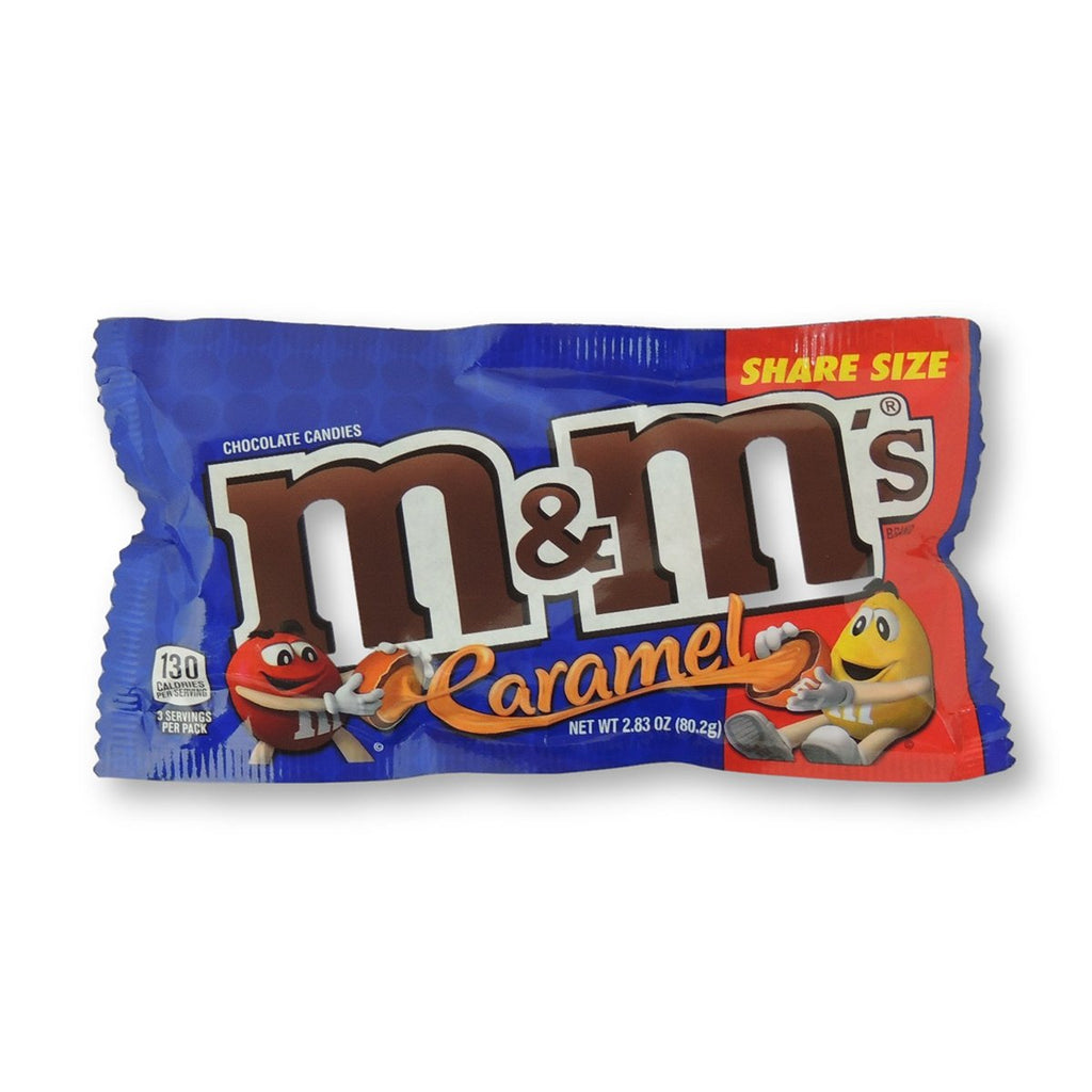 M & M King Size Caramel Chocolate 2.83 Oz