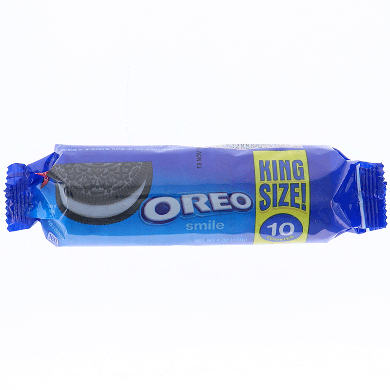 Oreo Smile King Size Chocolate Sandwich Cookies
