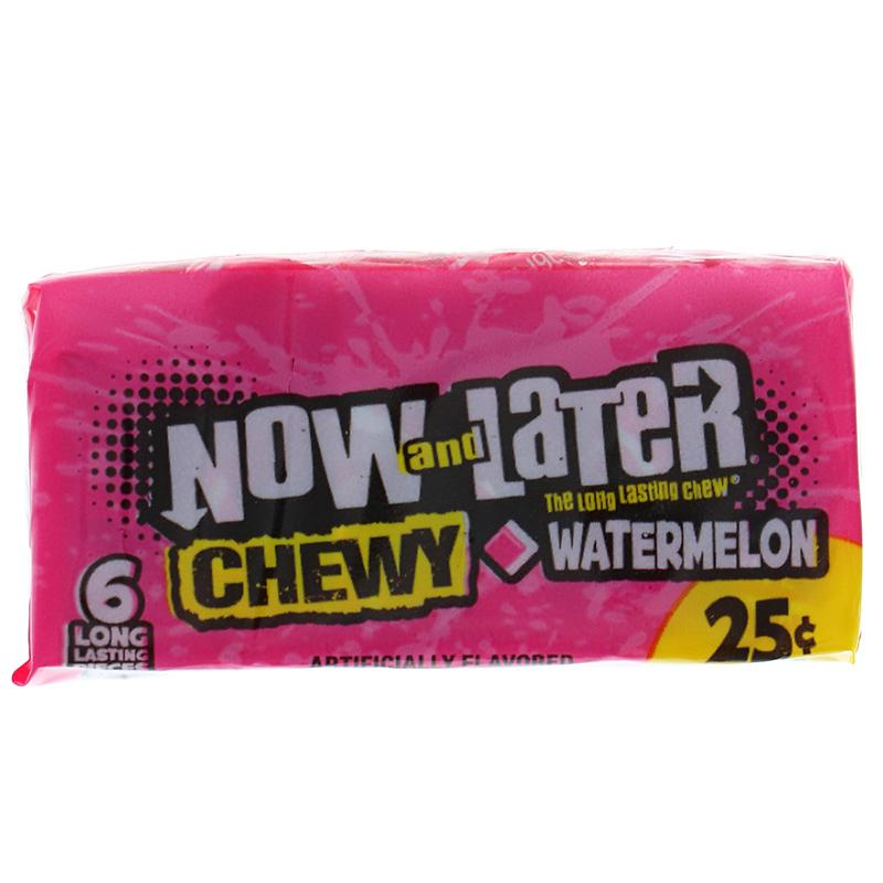 Now & Later Changemakers Bars Soft Watermelon 6 Pcs