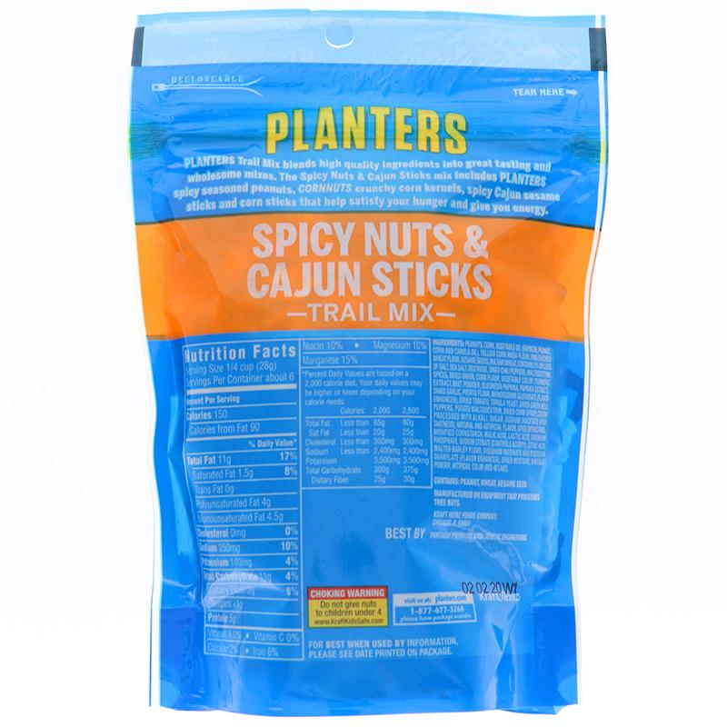 Planters Trail Mix Spicy Nuts & Cajun Sticks 6 Oz