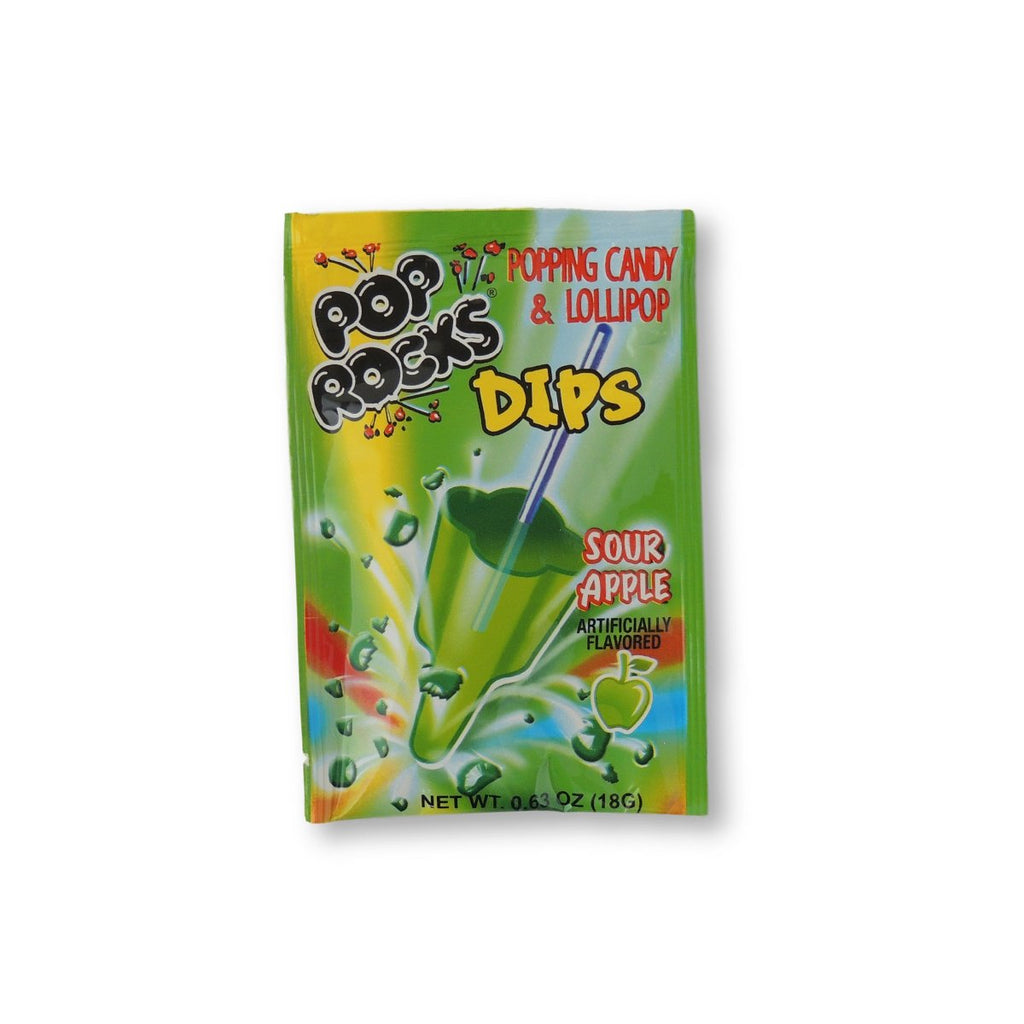 Pop Rocks Dips Sour Apple 0.63 Oz