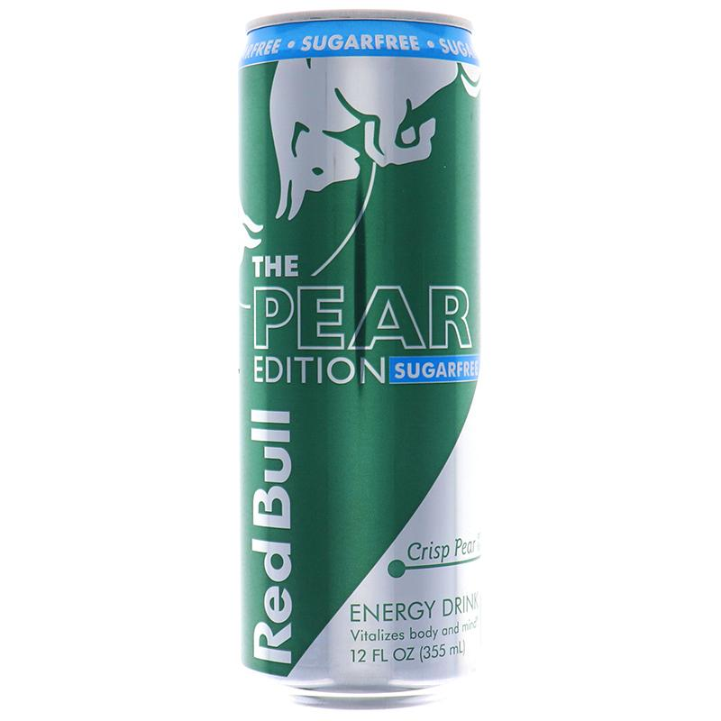 Red Bull Sugar Free Energy Drink Crisp Pear Flavor 12oz